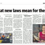 NT News article published 5 July 2017 about changes in Australia Immigration Laws from July 2017