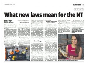 NT News article published 5 July 2017
