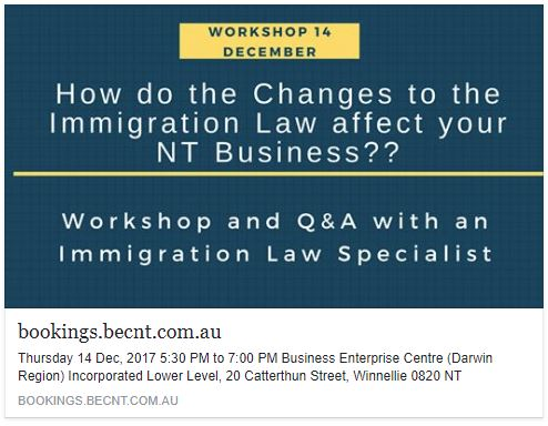 Immigration Law for businesses in the Northern Territory