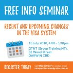 Free Immigration Law Seminar Darwin