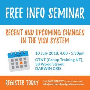 Free Immigration Law Seminar Darwin