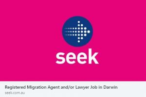 Seek RMA job ad Darwin